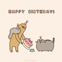 happy birthday pusheen gifs find on giphy