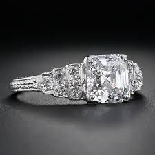 81 best vintage asscher cut diamonds images on pinterest