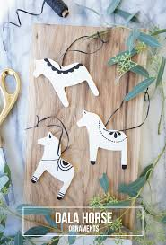 scandinavian modern dala ornaments
