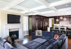 Family Room With Sectional Sofa Sectional Sofa Look Chicago Traditional Family Room Remodeling