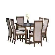 Simple 6 Seater Dining Table Design With Glass Top Modern Din 06 6 Seater Glass Top Dining Table Modern Glass Dining