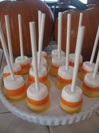 super cute candy corn marshmallow pops skewer a jumbo mallow