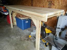 Plans For Making A Wooden Workbench by Garage Homemade Workbench Garage Workbench Ideas How To Build