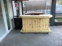Outside Patio Bar by The Foo Bar 6 U0027 Rustic Real Presuure Treated Wood Outdoor Patio Bar