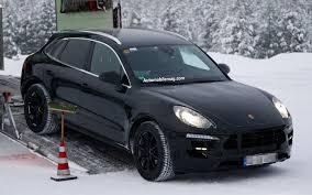 Porsche Cayenne Macan - caught porsche macan crossover plays in the snow