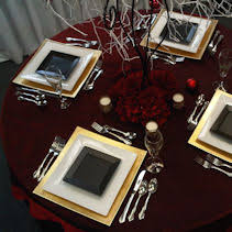 Table Setting Chargers - all occasion rentals rental china