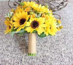 wedding flowers nottingham new style 2018 artificial sunflower yellow wedding bouquets for