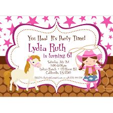 birthday invites awesome cowgirl birthday invitations designs