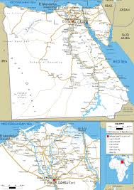 map of roads detailed clear large road map of arab republic of ezilon maps