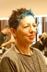 curly hair style for over 60 timeless pixie with blue surprise hairstyles weekly