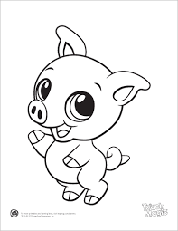 learning friends pig baby animal coloring printable from leapfrog