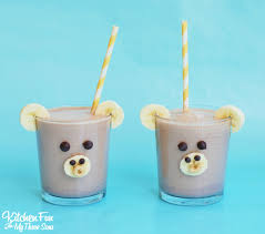 chocolate peanut butter banana smoothie monkey kitchen fun with