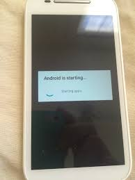 stuck on android is starting up motorola moto e 2nd - Android Optimizing App