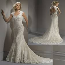 Lace Wedding Dresses Classy Look With Vintage Lace Wedding Dresses With Open Back