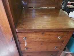 Antique Tiger Oak Dresser With Mirror by Antique Oak And Cedar Gentleman U0027s Armoire Dresser W Mirror Cedar