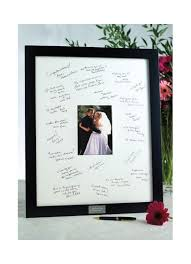wedding guest book picture frame personalized guest book frame for reception david s bridal