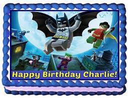 lego batman personalized edible cake topper image 1 4 sheet