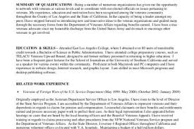 Sample Army Resume by Army Veteran Resume Reentrycorps