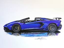 car lamborghini drawing lamborghini aventador sv roadster drawing supercar by filo