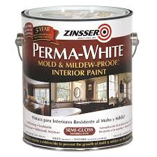 shop zinsser white semi gloss acrylic interior paint and primer in