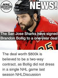 San Jose Sharks Meme - nhl discussion news ccm the san jose sharks have signed brandon