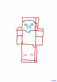 how to draw steve minecraft step by step video game characters