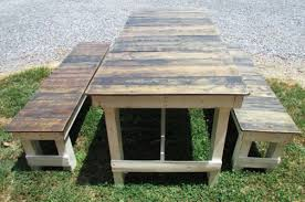 Best Wood To Make Picnic Table by Diy French Style Pallet Picnic Table Easy Diy And Crafts Diy