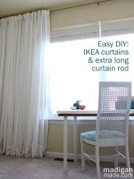 How To Make Roll Up Curtains How Can You Make Your Own Long Curtain Rod Great Tips At