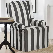 Wing Chair Slipcovers Coverworks Hampwingchar1 Havana Wing Chair Slipcover Charcoal Ebay
