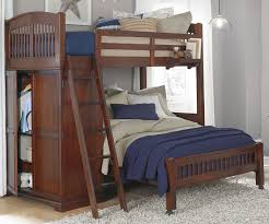 Crib Mattress Bunk Bed by Twin Over Full Locker Loft Bunk Bed 9060 And 8060 Walnut Street