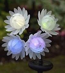 Colour Changing Solar Garden Lights - colour changing solar flowers solar lights garden light outdoor