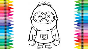 minions coloring minion paint colouring pages for kids learn