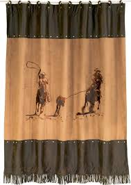 texas bathroom accessories and decor team ropers shower curtain