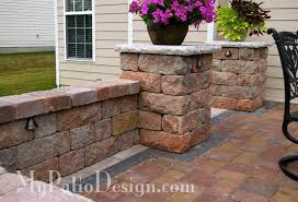 Patio Paver Lights Fabulous Seating Wall Ideas For Your Patio Mypatiodesign