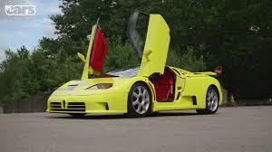bugatti eb110 crash yellow bugatti eb110 supersport side view doors up sssupersports