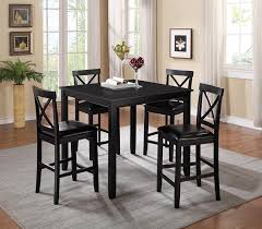 black high table and chairs tahoe pub table 5 piece furnish your needs
