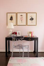 gold vanity stool pink walls black writing desk with lucite chair gold picture