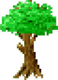 clipart pixel tree
