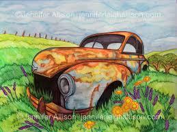 rusty car rusty car u2013 watercolor pencils confessions of a rambunctious kid