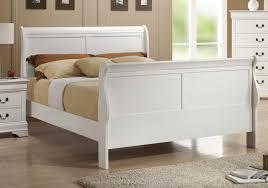 coaster 204691q louis philippe white queen sleigh bed