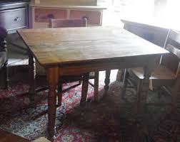 Oak Furniture Dining Tables Vintage Oak Dining Table Etsy