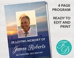 sle of funeral programs funeral program template funeral order of service memorial