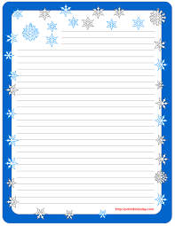 letter writing paper free winter writing paper