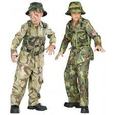 Army Soldier Halloween Costume Fun Military Costumes Boys Ebay
