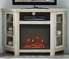Oak Corner Fireplace by Amazon Com We Furniture 48