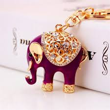 metal elephant ring holder images Buy new cute elephant animal keychains car jpg