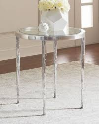 Aluminum Accent Table Marble U0026 Mirrored Coffee Tables At Neiman Marcus Horchow