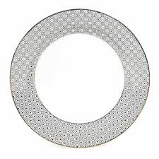 assiette de porcelaine assiette plate en porcelaine d 27 cm kate maisons du monde