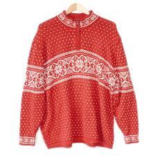 classic nordic snowflake men u0027s ski ugly christmas sweater