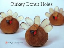 turkey donut holes pinching
